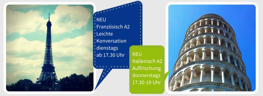 Aktueller Französischkurs in Karlsruhe und Italienischkurs im SprachenStudio KAST